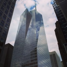 Image of glass high rise building in New York