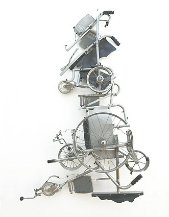 Great Britain from a Wheelchair sculpture by Tony Heaton