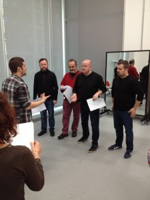 Four Deaf Yorkshiremen cast rehearse new comedy!