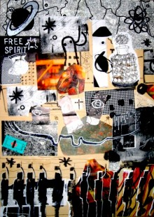 book cover showing a collage of small drawings