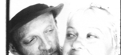 black and white photograph of Kiruna Stamell and Gareth Berliner