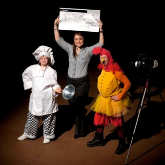 photo of mind the gap actors receiving a large cheque