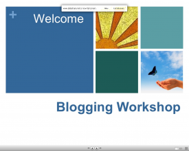 Blogging Powerpoint by Dolly Sen