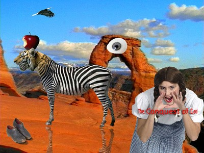 The Conquest of God photomontage by Phil Lancaster