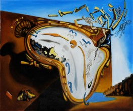 Dali picture of clock slipping away