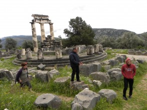 Filming in Greece/ Athenas Temple during the 2011European Tour