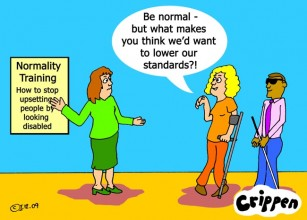 normality training cartoon