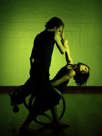 Photo of StopGap dancers Dan Watson and Laura Jones.