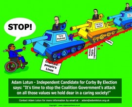 Adam Lotun fights Corby by-election