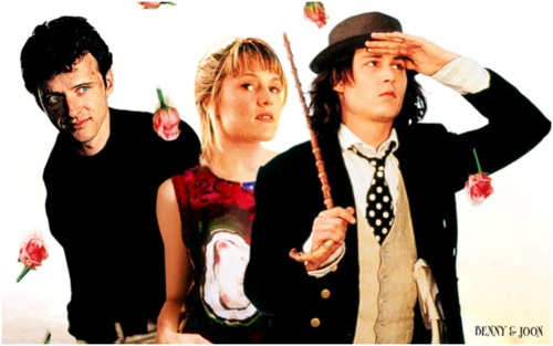 flyer image portraying the three main characters in the film Benny and Joon