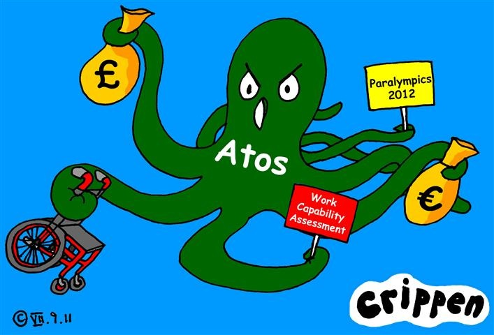The spread of Atos' tentacles. Cartoon by Crippen