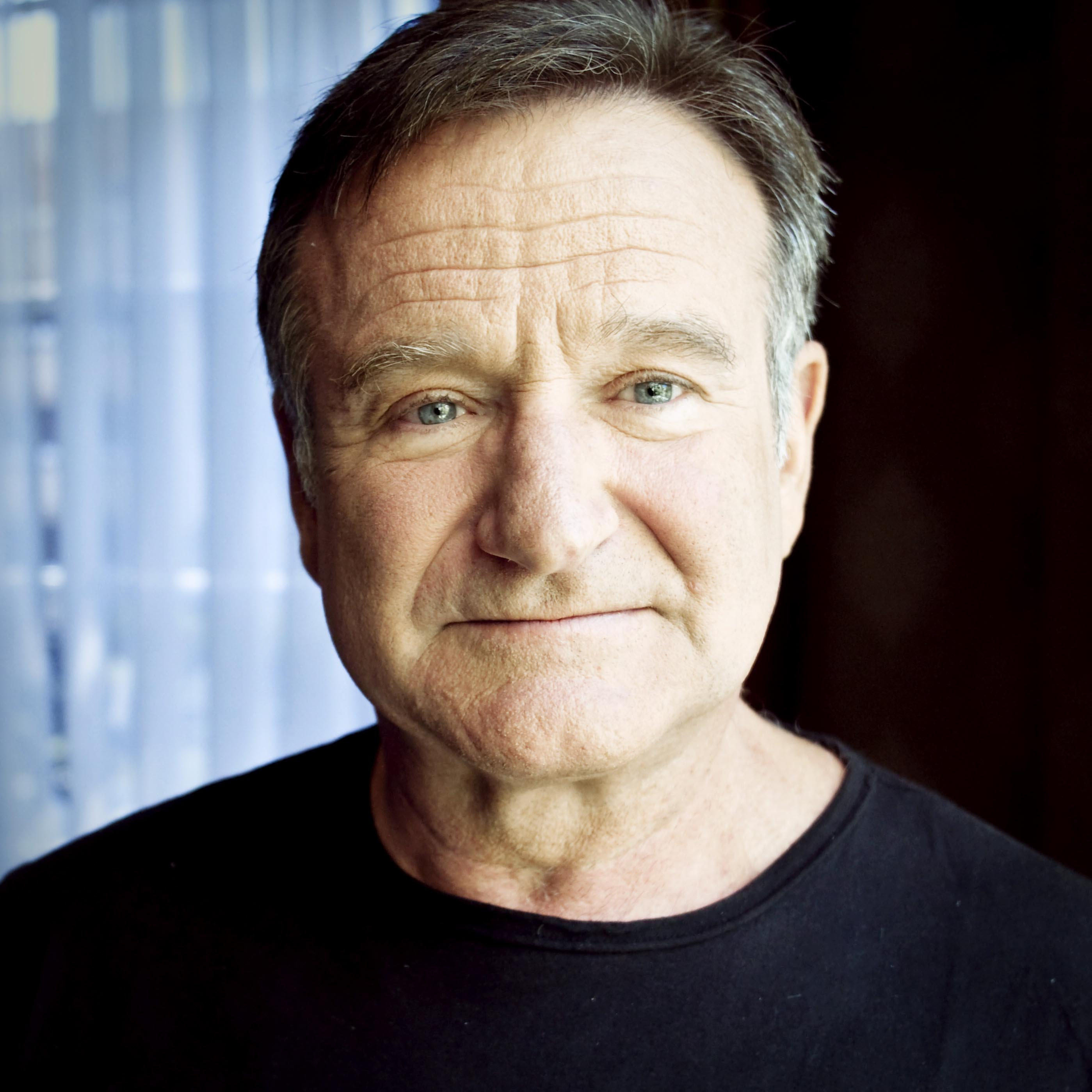 portrait of the American actor Robin Williams