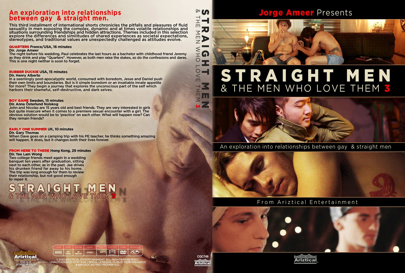 Cover Of 'Straight Men & The Men Who Love Them 3' DVD release