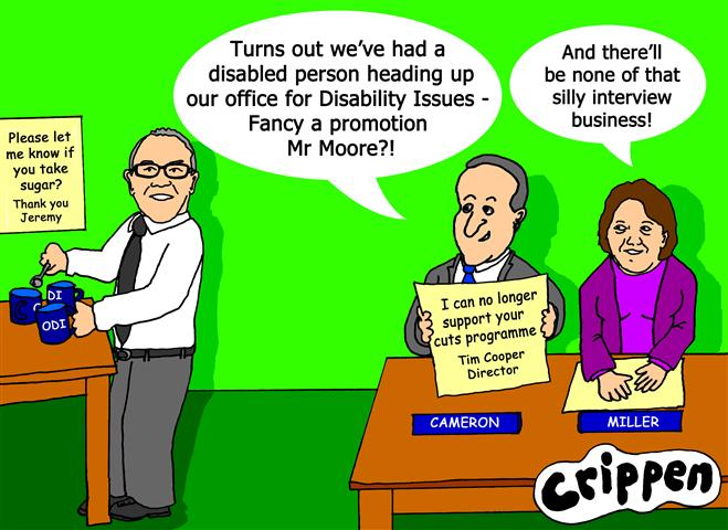 Crippen's cartoon about the new non-disabled director of ODI