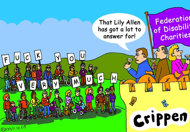 Crippen's cartoon about Lily Allen's Gay Right's anthem