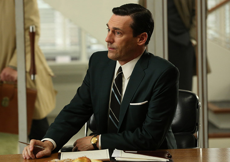 Don Draper at work, doing what he does best.
