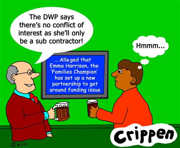 Crippen's cartoon about a conflict of interest