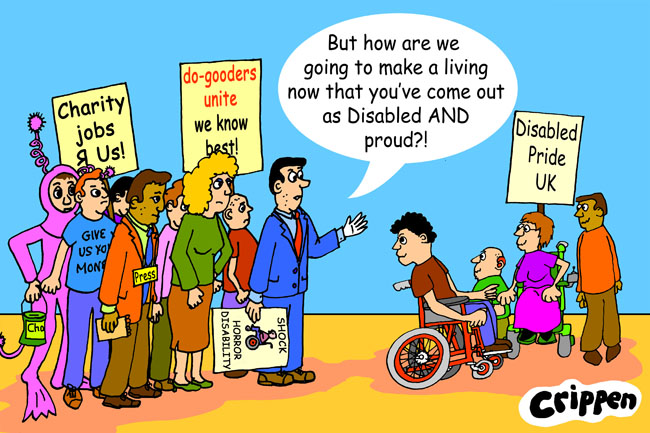 Crippen's cartoon about Disabled people uniting against the status quo