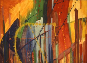 Drips, Lines and Spatters (watercolour 1980) Nancy Willis