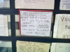 Image showing advert in shop window which reads