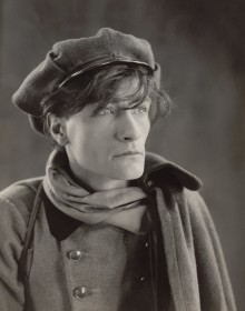 black and white photo of French poet and theatre innovator Antonin Artaud