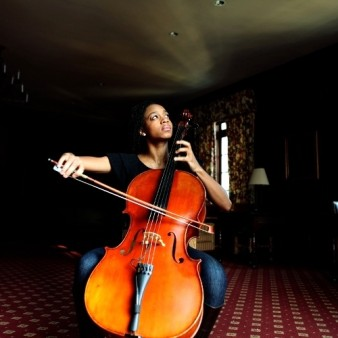 photo of a woman playing the cello