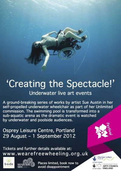 'Creating the Spectacle!' performance poster