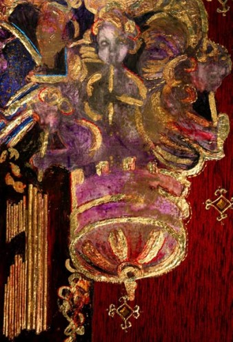 Detail from Chapel Royal, painting by Rachel Gadsden