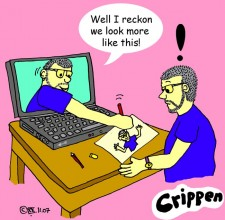 Crippen Computer Twin cartoon