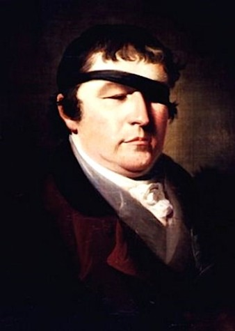 painting of an 18th century gentleman, Edward Rushton, wearing an eye patch