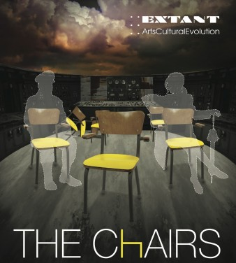 flyer for extant theatre's production of the chairs
