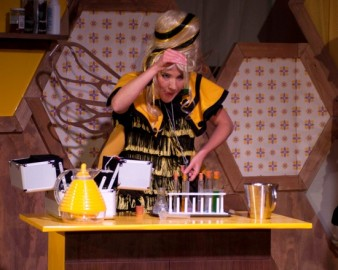 photo of actress dressed as a bee