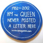 blue plaque reading HM The Queen Never Posted a Letter Here