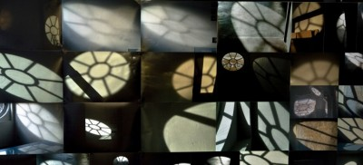 Montage of Sally Booth's photographs of light through the windows at the Bluecoat, Liverpool