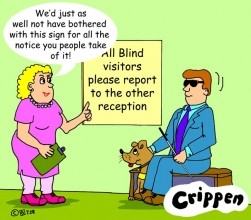 Crippen blindsign cartoon