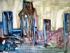 Painting by Cathy Woolley: St. Andrew