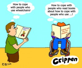 Crippen's take on coping with wheelchair users