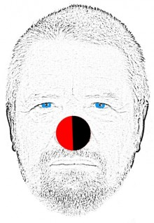 Crippen wearing a red nose