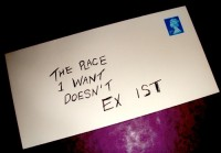 Stamped letter addressed: The place I want doesn't exist