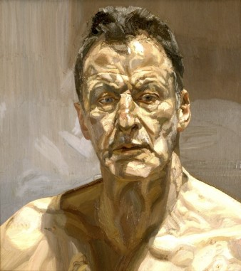 self-portrait of the artist lucian freud painted naked down to the chest