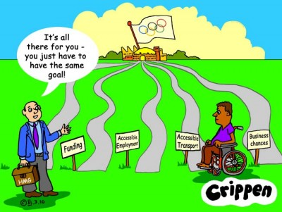Crippen's cartoon about the access being created for the Olympic games