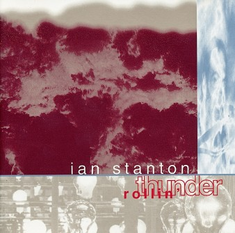 cover of Ian Stanton's CD 'Rollin' Thunder' with an image of clouds