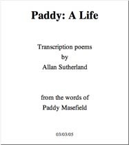 Allan Sutherland: Paddy Masefield Poems