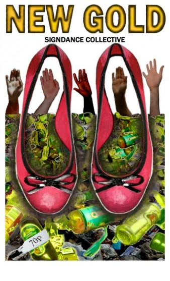 flyer featuring image of a pair of red shoes