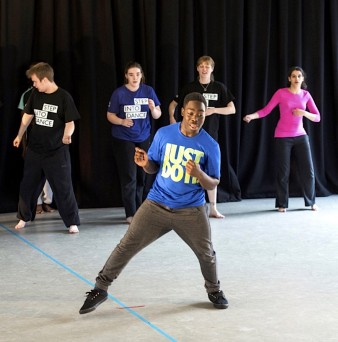 photo of a group of young dancers at a workshop with Step Into Dance