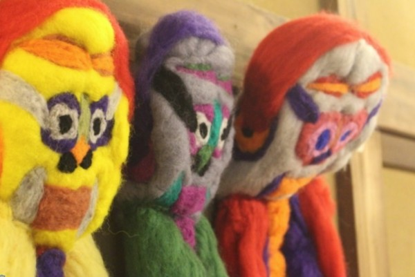 Felt Characters made by Japanese artist, Makota Okawa, commissioned by Unlimited.