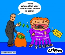 Cameron feeds the Useless Eater monster with money